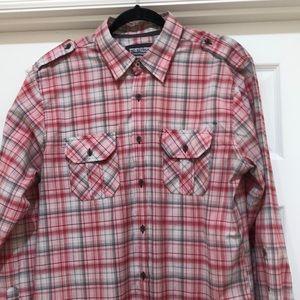 EUC No Retreat Plaid Shirt Size L